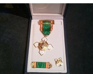 Cruz al mérito policial con distintivo blanco del Cuerpo Nacional de Policía