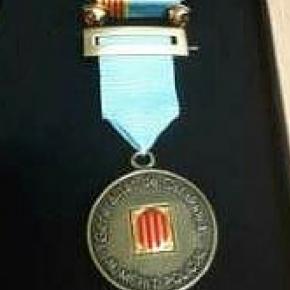 Medalla de bronze al mèrit policial amb distintiu blau dels Mossos d'Esquadra