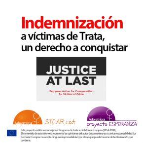 'A menudo las víctimas de trata no cobran la indemnización'