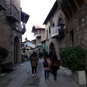 De visita por el Poble Espanyol de Barcelona