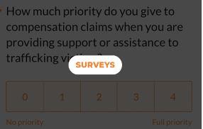 Campanya Justice at Last: Enquestes especialitzades
