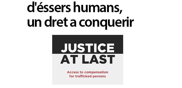 Indeminització a víctimes de tràfic d'éssers humans